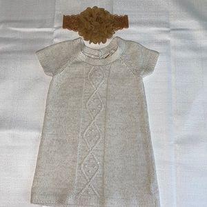 EUC baby girls fall sweater dress size 6-12 months